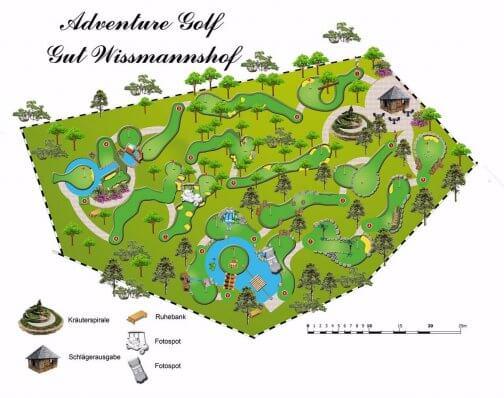 Adventure Golf Karte