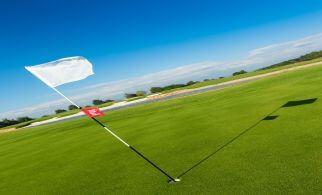 Golfplatz Fahne