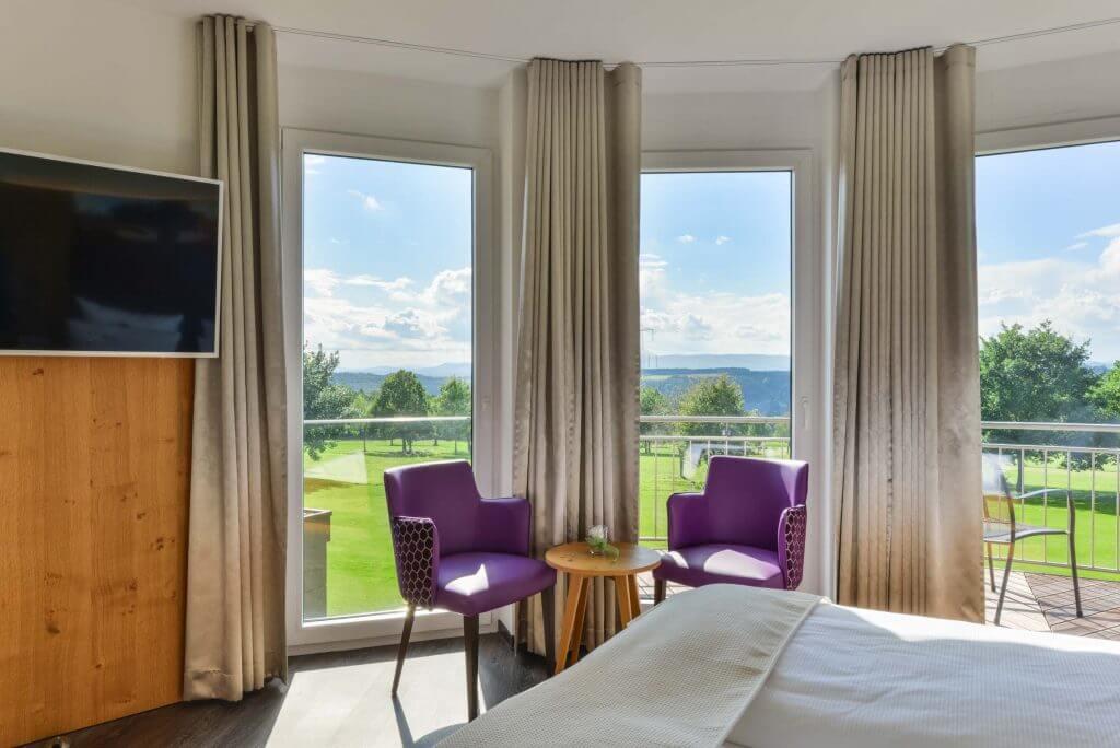 Zimmer mit Bett Aussicht